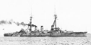 Dreadnought - The Japanese battleship Settsu