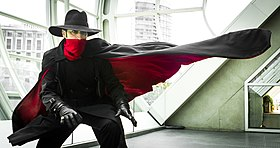 The Shadow (cosplay durant le Comic-Con 2012, photographie de Justin Langley).
