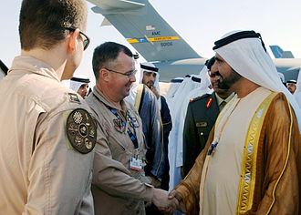 Mohammed bin Rashid Al Maktoum - Sheikh Mohammed at the Dubai Air Show in 2007