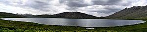 Sheosar Lake - Image: Shaosar Lake (panoramic view)
