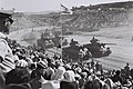 Sherman tanks during the Israel independence day parade, 1958 D733-100.jpg