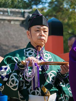 Gyōji - The 40th Shikimori Inosuke, in March 2017.