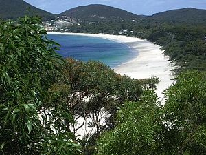 Shoal Bay in Port Stephens, New South Wales, A...