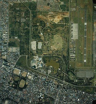 Showa Memorial Park - Satellite view of the park