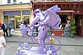 Side view of purple cyclist - geograph.org.uk - 2567391.jpg