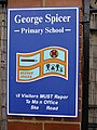 Sign for George Spicer Primary School, Enfield - geograph.org.uk - 1222986.jpg