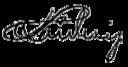 Ludwig I., König von Bayern, Gemälde von Joseph Karl Stieler, 1826, Darstellung im Krönungsornat (mit der Collane des Hubertusordens). Rechts oben das Motto Gerecht und beharrlich. Ludwigs Unterschrift: (Quelle: Wikimedia)
