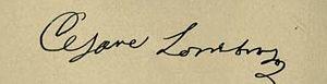 Cesare Lombroso - Image: Signature of Cesare Lombroso