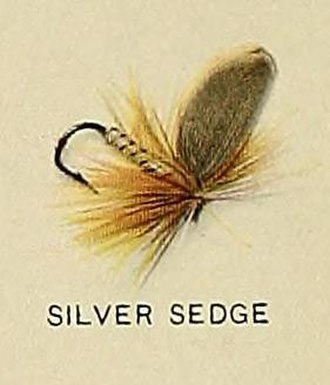"Caddisfly - ""Silver Sedge"" fishing fly mimicking Lepidostoma caddisfly, from Trout fly-fishing in America"