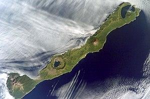 Simushir - NASA picture of Simushir Island