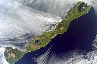 Simushir island in Russia