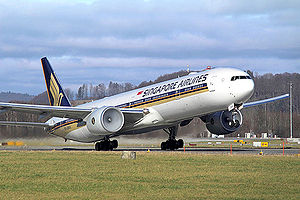 Singapore Airlines Boeing 777-300 9V-SWA