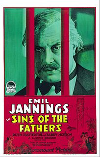 <i>Sins of the Fathers</i> (1928 film) 1928 film by Ludwig Berger