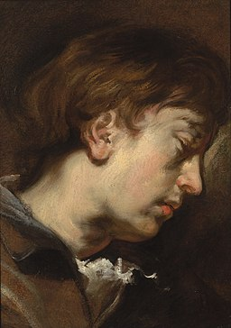 Sir Anthony van Dyck (1599-1641)Study of a young man in profile