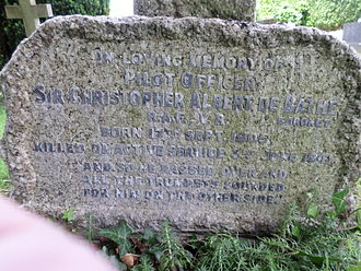 De Bathe baronets - Grave of Sir Christopher Albert de Bathe 6th Bt.