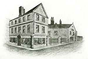 Thomas Browne - An illustration of Sir Thomas Browne's house in Norwich