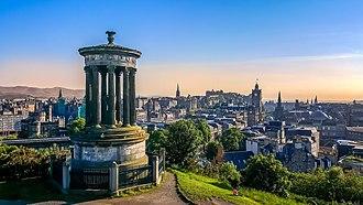 Economy of Scotland - Image: Skyline of Edinburgh