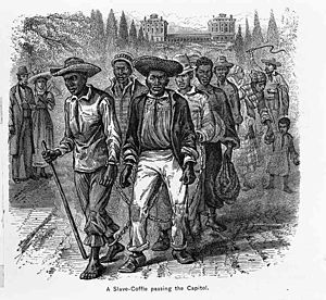 Michael Shiner - A group of enslaved men in front of the US Capitol in the 1830s