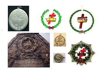 English: Variants of symbol of Cross and Crown...