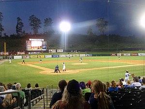 Smokies Stadium - A game at Smokies Park in 2009