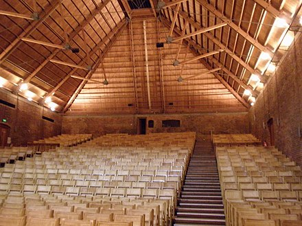 Snape Maltings concert hall, a main venue of the Aldeburgh Festival, founded by Britten, Pears and Crozier Snape Maltings Concert Hall, Snape, Suffolk (2).jpg