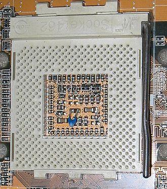 Zero insertion force - A large ZIF socket (Socket A)