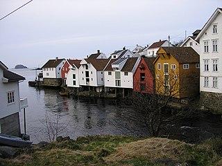 Sogndalstrand Village in Western Norway, Norway