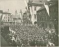Sokoli pred Mestno hišo v Ljubljani 1904.jpg