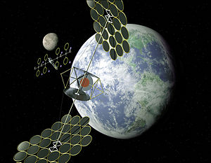 Space-based solar power - SERT sandwich concept.NASA