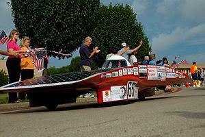 Solar Team - Image: Soleon on day 2 of NASC 05