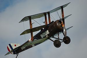 Sopwith Triplane - Triplane reproduction G-BOCK at Old Warden, 2013