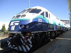Sounder commuter rail - Image: Sounder 923 at Everett Station