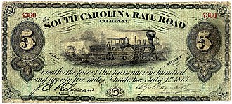 "South Carolina Railroad - South Carolina Railroad ""Fare Ticket"""