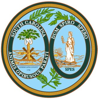 Outline of South Carolina - Image: South Carolinastateseal