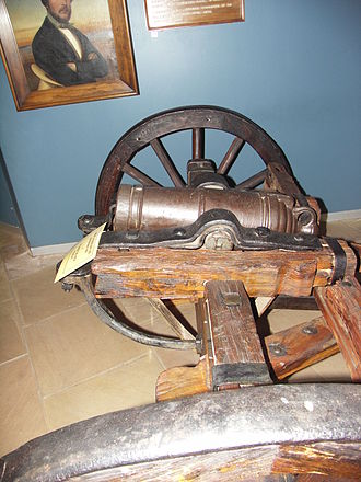 Battle of Blood River - The carronade used during the battle on an improvised carriage Andries Pretorius brought with him from the Cape.