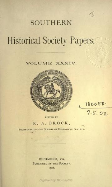 File:Southern Historical Society Papers volume 34.djvu