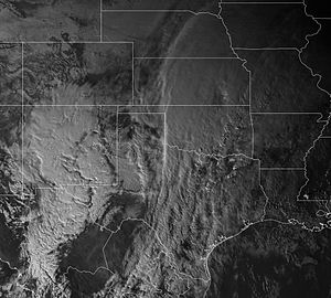 2015–16 North American winter - Satellite image of the storm complex on December 26