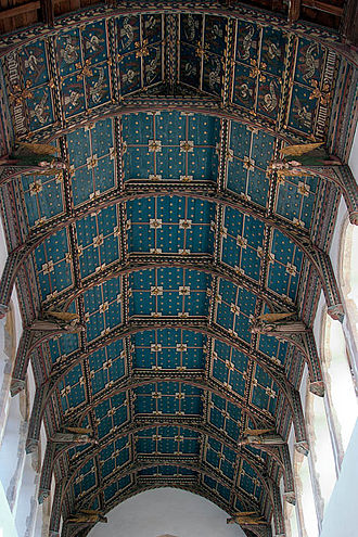 Wool church - Roof of St. Edmund's Church, Southwold, Suffolk