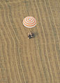 Soyuz TMA-22 capsule touchdown.jpg