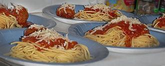 Spaghetti with meatballs - Image: Spaghetti with meatballs 5