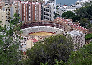 Bullring - Málaga's bullring lies in the heart of the city.
