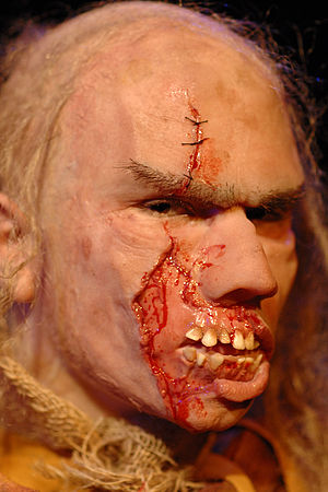Prosthetic makeup - Example from work of a Special Make-up artist