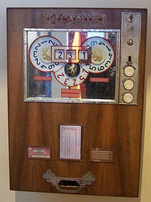 Spielautomat Rotamint 1960