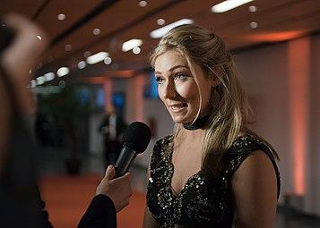 Sportler des Jahres Österreich 2016 red carpet Mikaela Shiffrin 2.jpg