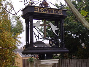 Spratton - Image: Spratton Village sign (3)
