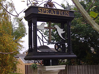 Spratton village in the United Kingdom