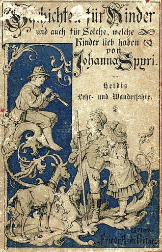 Heidi - Image: Spyri Heidi Cover 1887