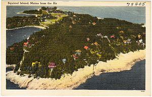 Squirrel Island, Maine - Aerial view c.1940s