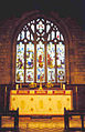 St. John Lee - interior shot of stained glass window and altar - geograph.org.uk - 275456.jpg