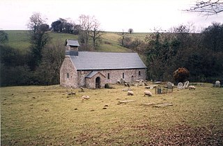 Llanelieu village in United Kingdom